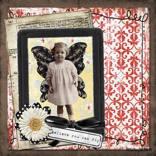 girlie: FairyDavis.com. . . Digi papers/elements: weedsandwildflowersdesigns.com